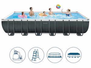 Intex Swimming Pool 26364 Ex 26362 Ultra Large Rectangular Frame 732x366x132, Rectangular pool above ground