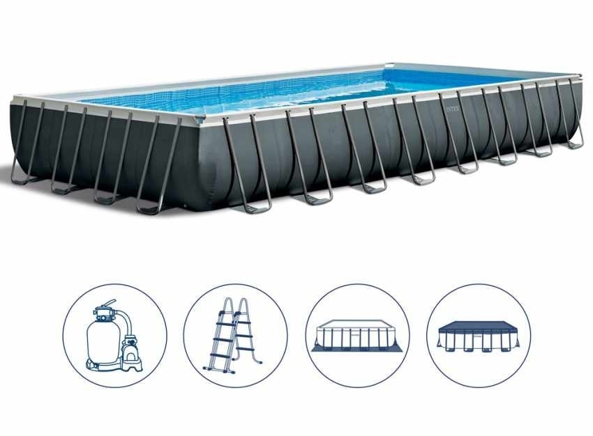 Swimming Pool & Accessories Ultralarge Mount Adult Swimming Pool 5 Sizes Child Swimming Pool Square Folding Inflatable Paddling Pool