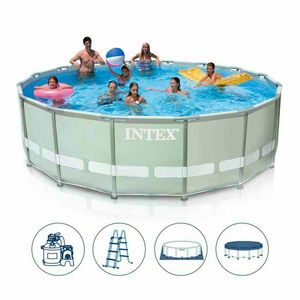 Above ground pool Intex 26324 ex 28324 Ultra Frame round 488x122 - 26324, Above ground pool with cover cloth