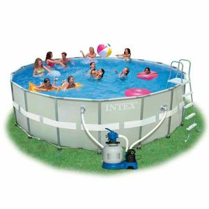 Above ground pool Intex 26332 ex 28332 Ultra Frame round 549x132 - 26332, Above ground round pool with water filtering