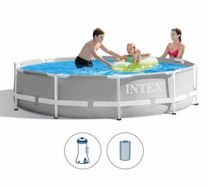 Piscina Rotonda Intex 26702 Ex 28702 Prisma Metal Frame 305cm, Round pool for outdoor use