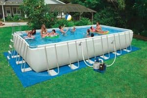 Rectangular pool outside ground Intex � 28352, Ground swimming pool, practical to assemble, with ladder