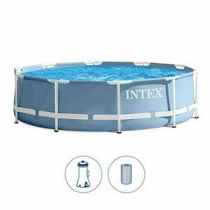 Round pool Intex 28702 Prisma Metal Frame 305cm - 28702, Above ground pool in anti-rust material