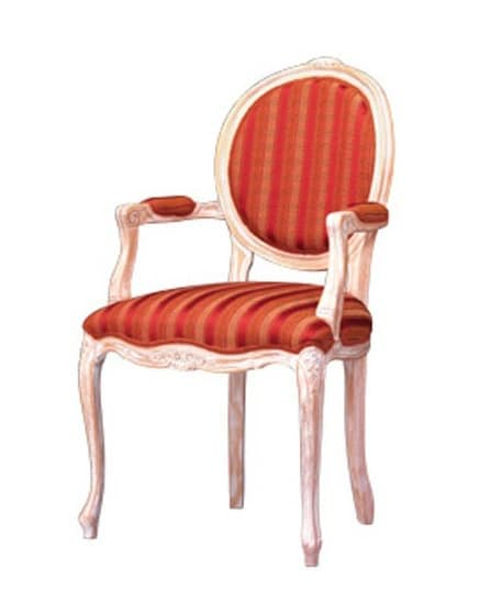 1051, Chair with covered armrests for classic restaurant