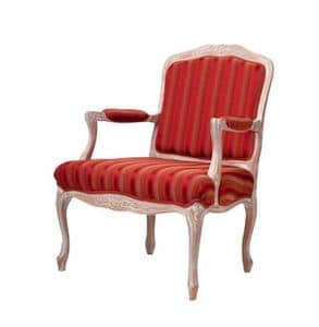 1060, Armchair with padded armrests, for luxury hotels