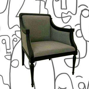 2090 ARMCHAIR armchair, Black lacquered armchair
