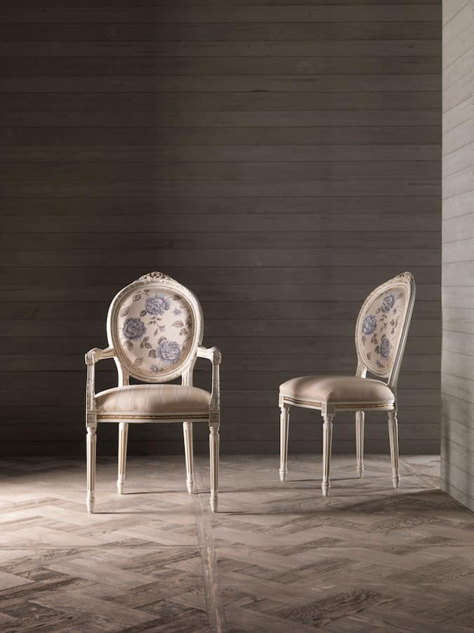 CARLAu0027 Armchair 8662A, Chair With Armrests, Medallion Backrest , For Naval  Furniture