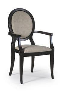 Cindy chair with arms, Dining chair with armrests, classic style