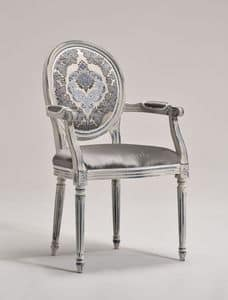 LUIGI XVI armchair 8023A, Chair, head of the table, Louis XVI style, customizable