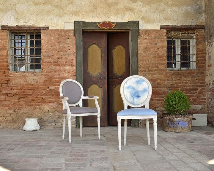 LUIGI XVI armchair 8023A, Chair, head of the table, Louis XVI style, customizable