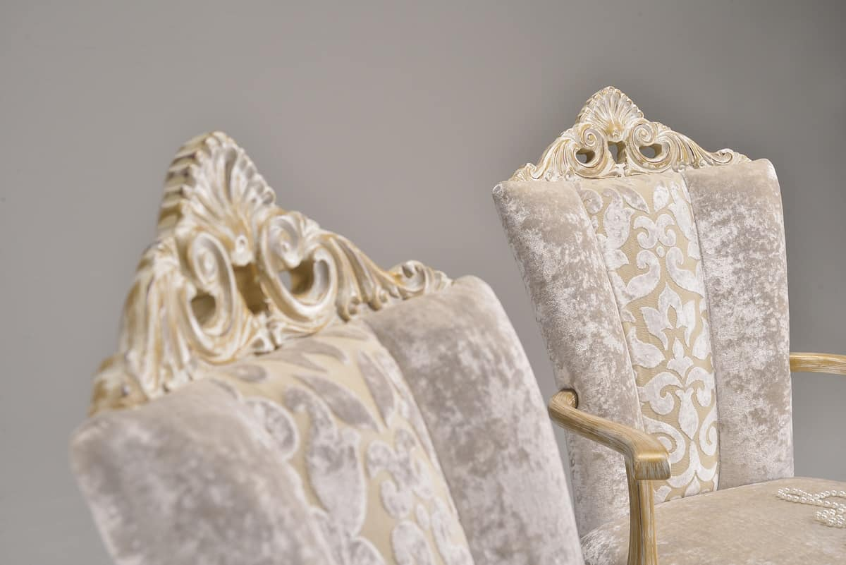MISSIS chair 8619S, Dining chair, upholstered with elegant fabrics, classic style