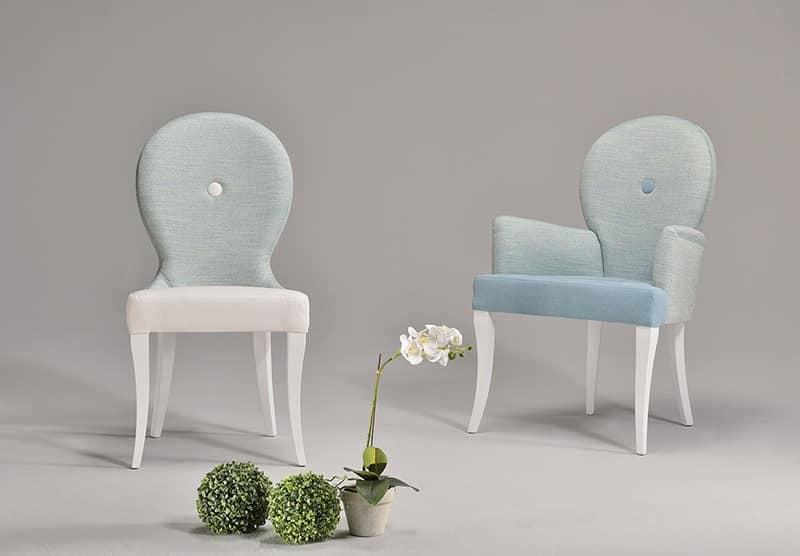 NEA armchair 8309A, Armchair with padded armrests, classic style