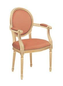 S08, Classic style chair for refined dining rooms