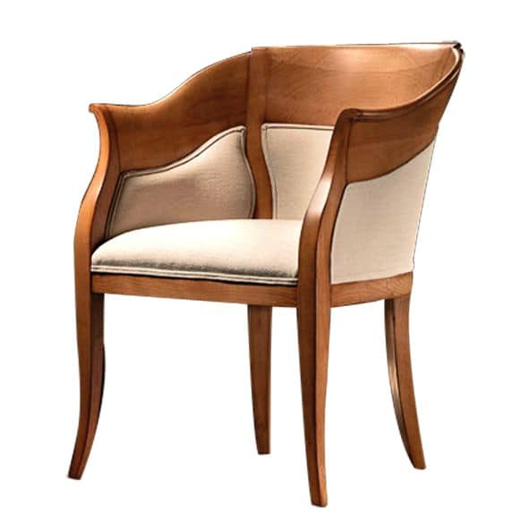 TheBritish CH.0202, Shaped small armchair, padded seat