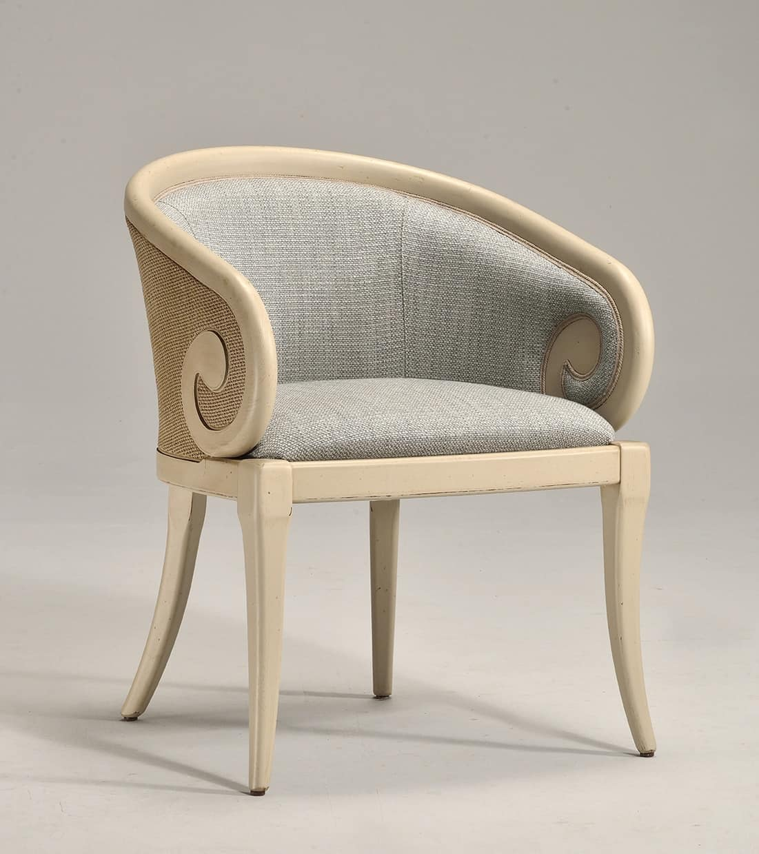TOFEE armchair (with cane) 8216A, Classic style armchair, covered in fabric
