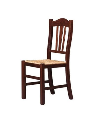 200, Dining chair with decorated backrest, for farm holiday
