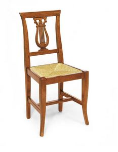 Art. 101, Chair with harp-shaped decoration