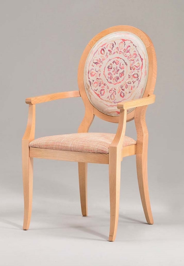 S11, Wooden chair with armrests