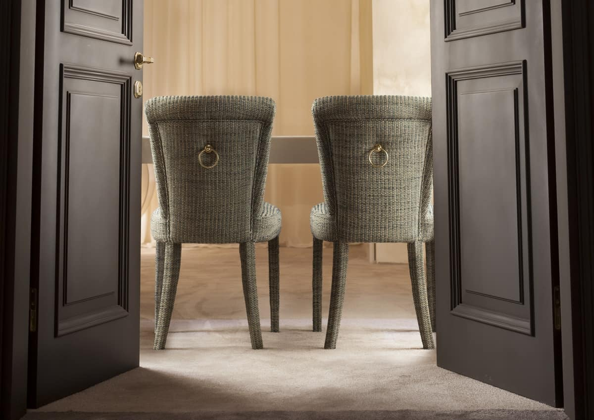 Senna, Dining chair, fully coverable in fabric