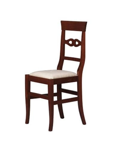 212, Dining chair in beech, back with simple decorations