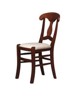 216, Solid wood rustic chair, for restaurants and pizzerias