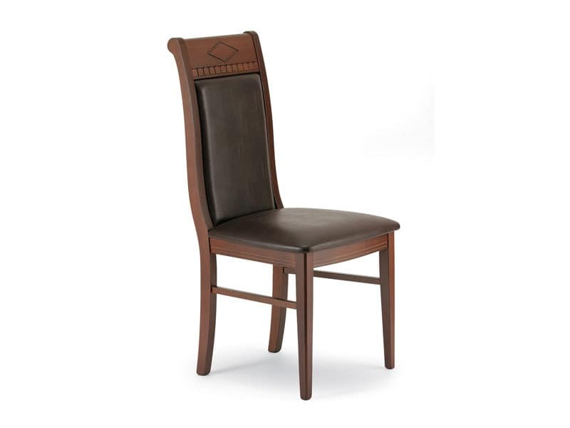 725, Chair with high decorated back, for dining room