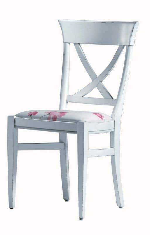 Annie BR.0211, Lacquered chair, upholstered seat, without armrests