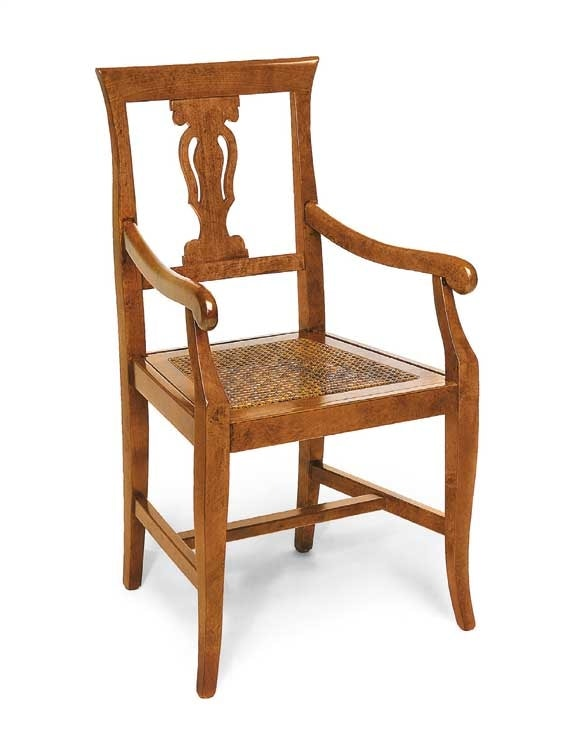 Art.103/A, Chair with seat in vienna straw