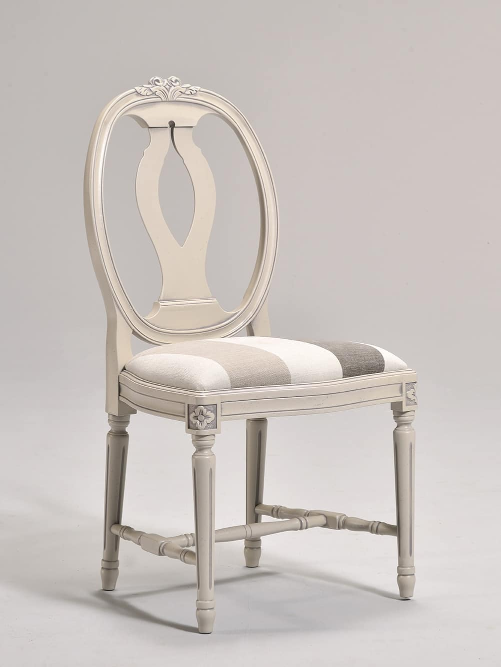 GUSTAVIA chair 8116S, Gustavian style chair with oval backrest