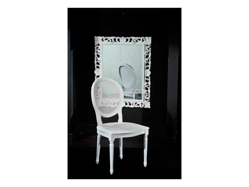 LUIGI XVI chair (with cane) 8323S, Dining chair, robust, in cane, for hotel