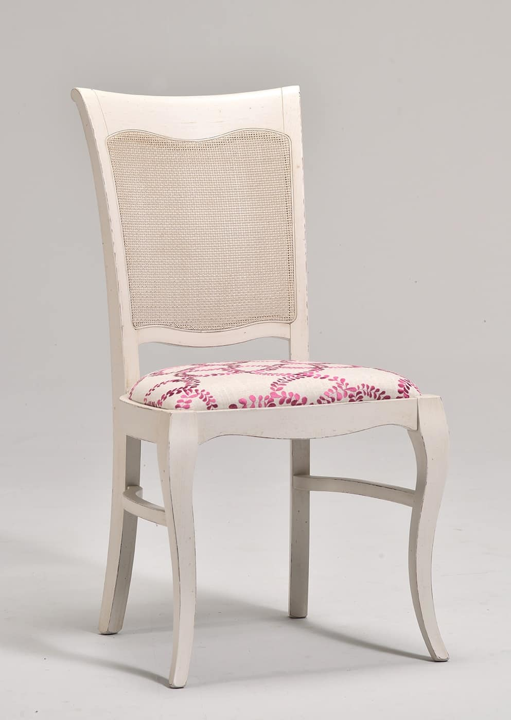 MILUNA chair (with cane) 8127S, Classic style chair with padded seat and backrest