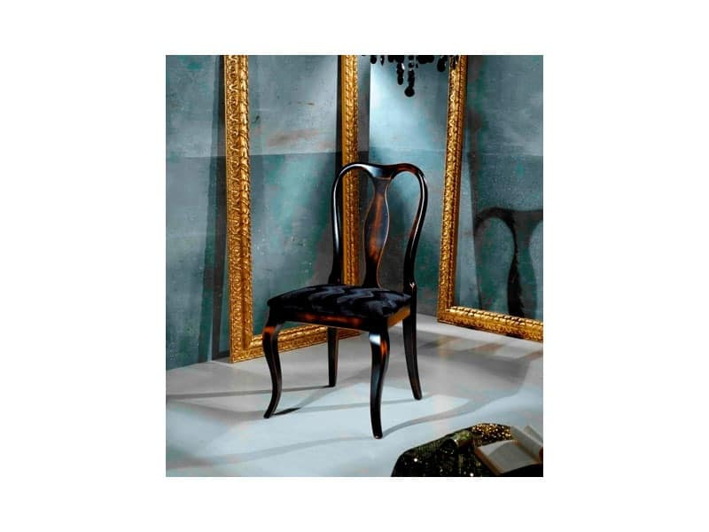 QUEEN ANNE chair 8300S, Chippendale style chair, padded seat