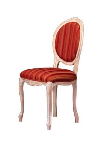 1052, Chair in wood with oval back, for the living area