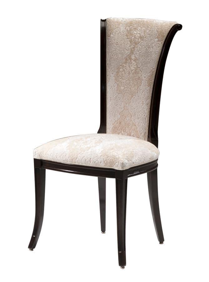 Amazon DU.0150.SP, Walnut chair, high back, classic style