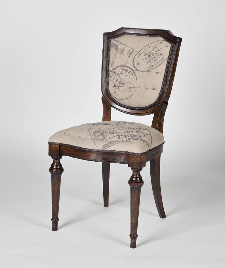 Art. 582, Dining upholstered chair in classic style