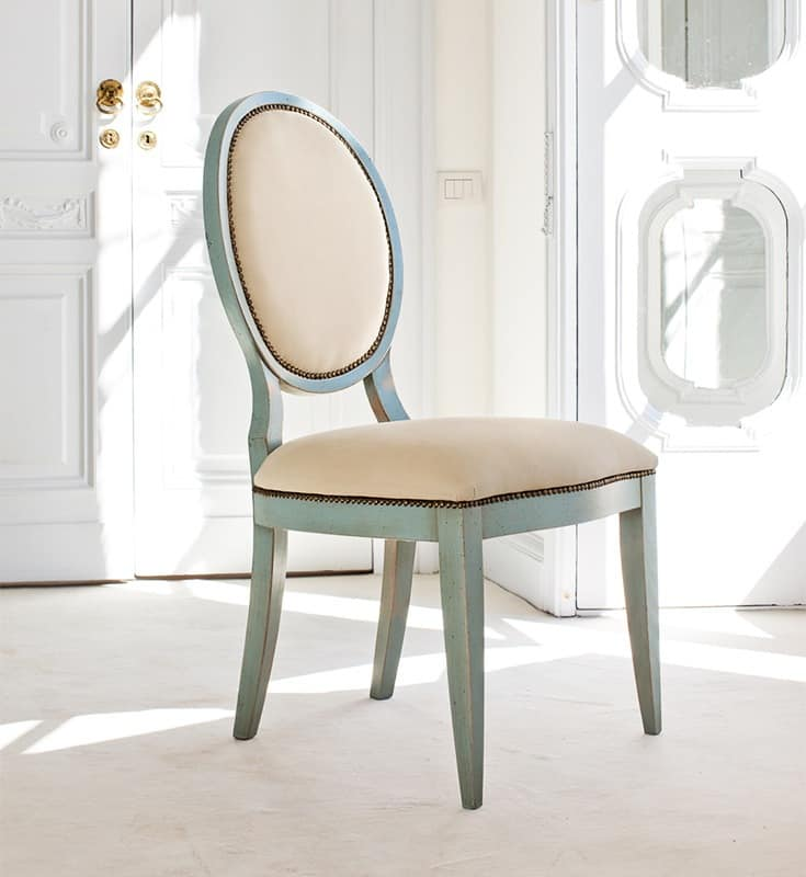 AURIGA Art. 1195, Padded wooden chair, vintage-style, for restaurant