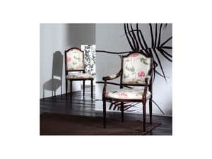 CARMEN chair 8249S, Padded wooden chair, classic style