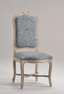 ELISABETH chair 8492S, Chair with upholstered high backrest, classic style