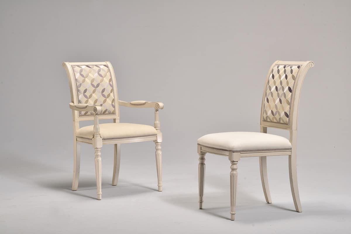 GABRY chair 8257S, Classic chair, upholstered, beech, for historical coffee