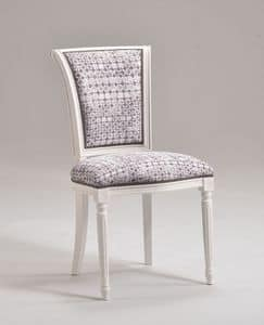KELLY chair 8021S, Classic style chair without armrests, customizable