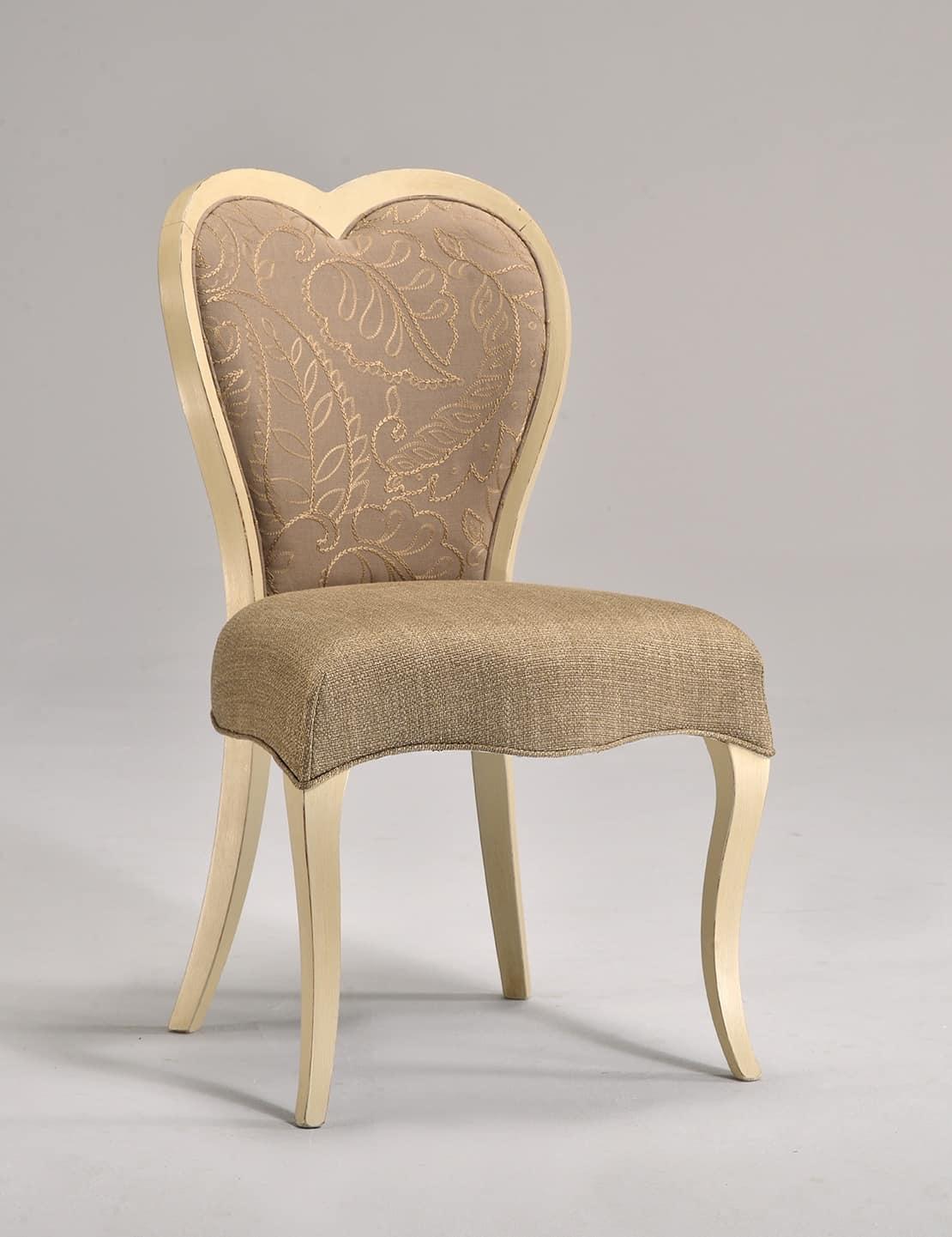 LOVE chair 8528S, Classic beech chair, heart-shaped backrest