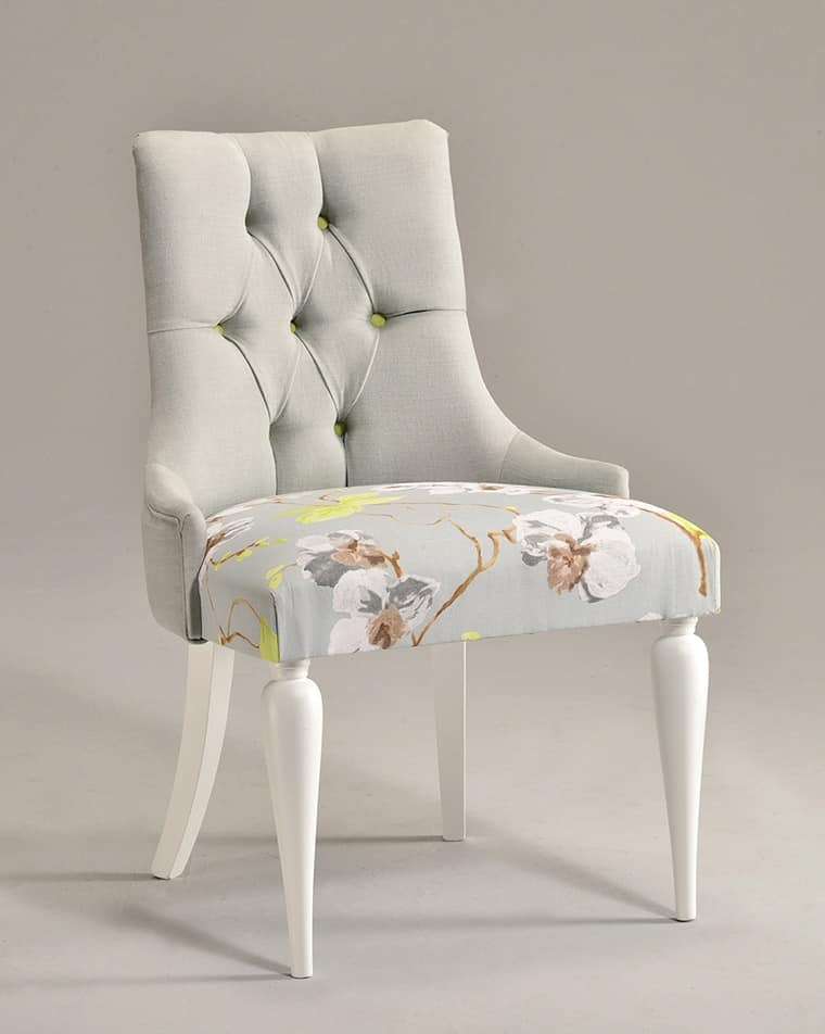 MARGOT chair 8359S, Contemporary classic chair, upholstered seat, in beech