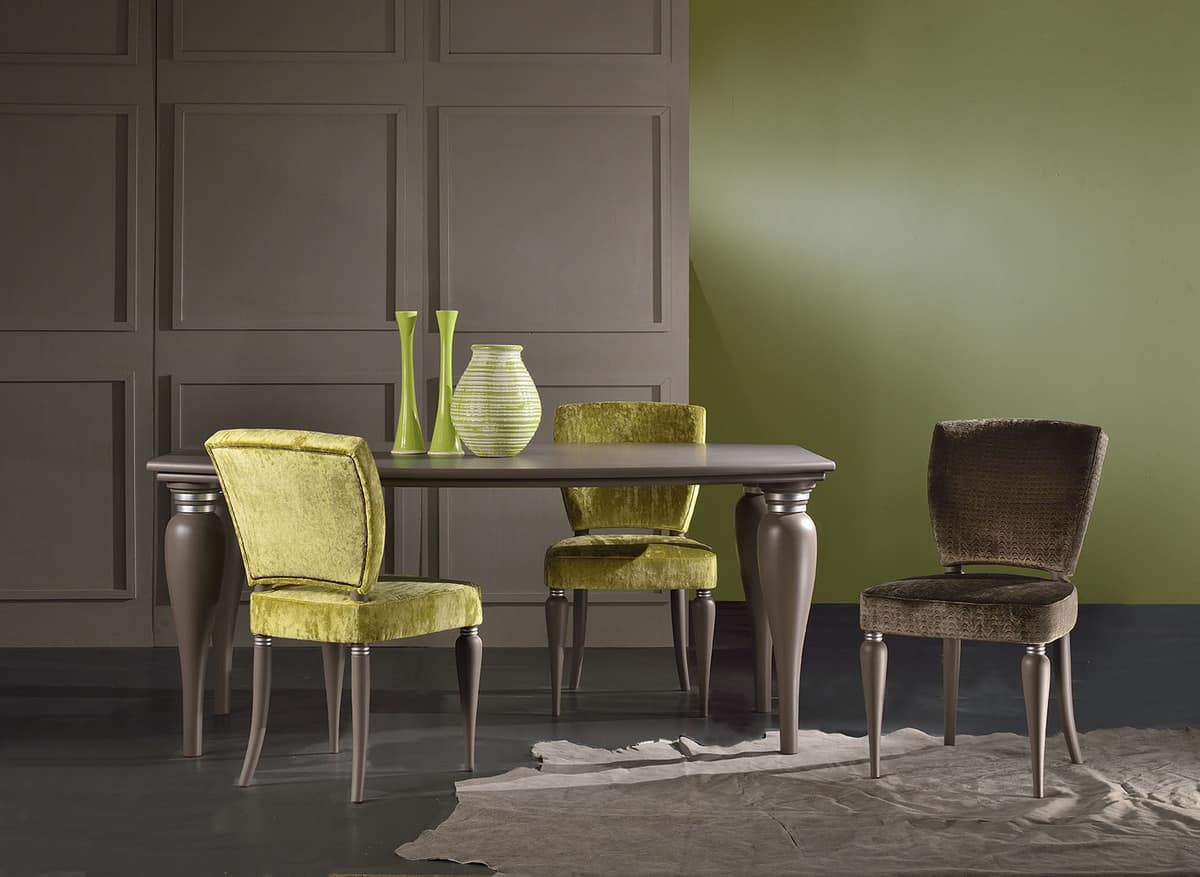 MARILYN chair 8301S, Classic chair with padded seat, in solid beech