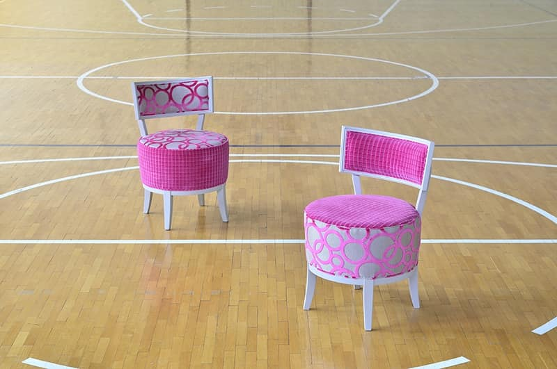 ROUND chair 8641S, Elegant chair, with upholstered round seat, for restaurant
