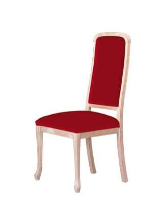 S01, Chairs with wooden frame, upholstered, for contract use