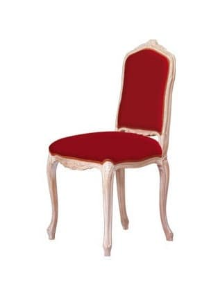 S03, Upholstered chair with beech base, classical style
