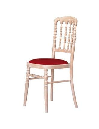 S10 STK, Chair in beechwood, for sitting rooms in classic style