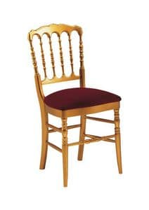 S10, Classic wooden Chair, backrest with vertical slats