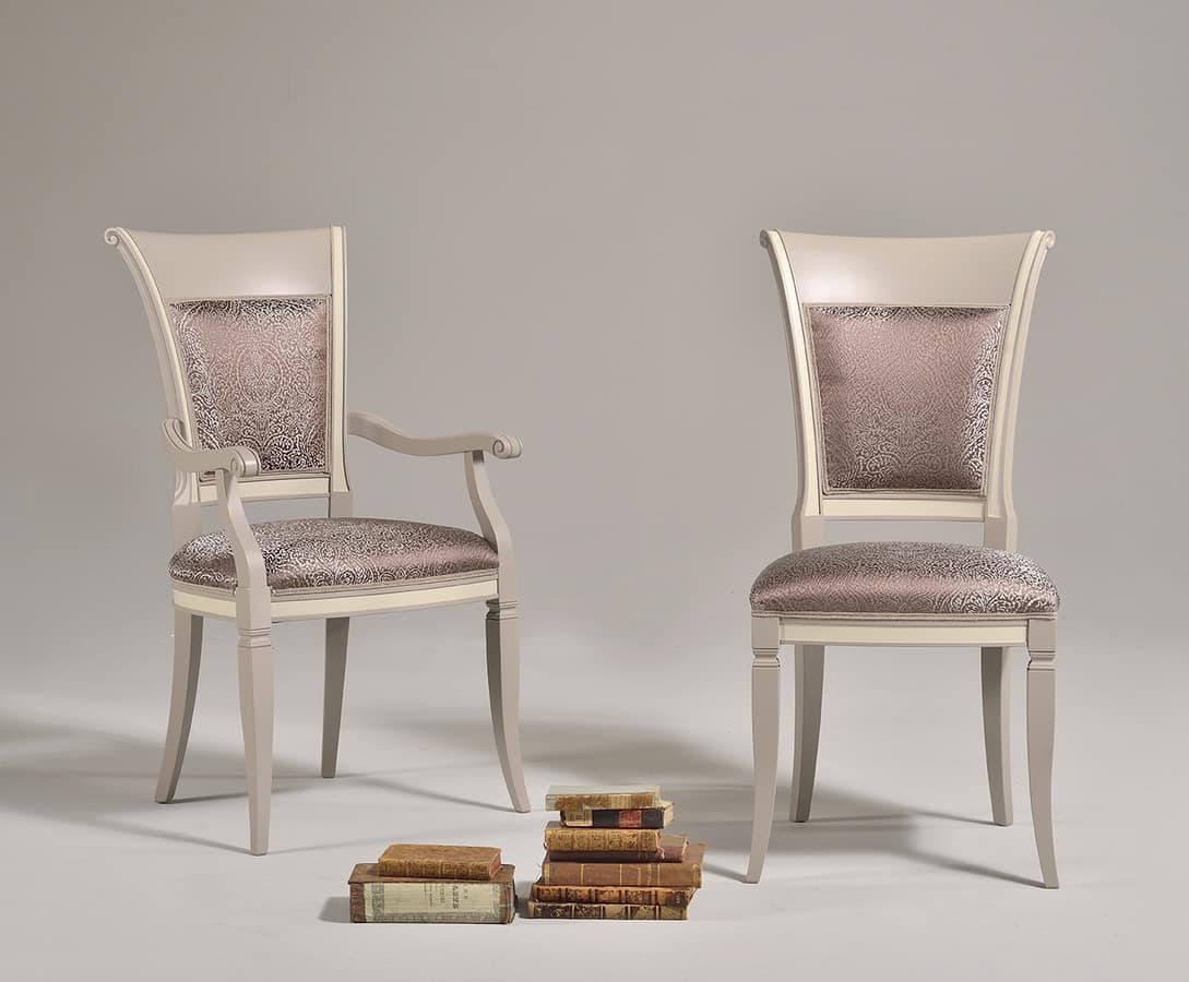 SIRIA Chair 8525S, Old Style Chair With Wooden Backrest