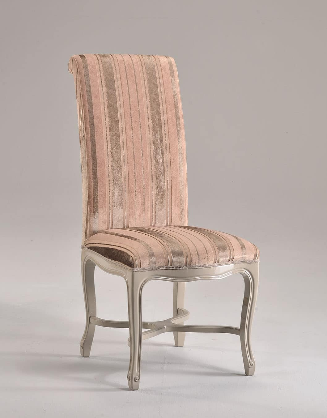 SISSI chair 8491S, High-backrest chair, upholstered with wooden structure